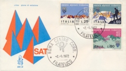 Italia Italy 1972 FDC VENETIA Centenario Società Alpinisti Tridentini SAT Centenary Tridentine Mountaineers' Society - Arrampicata