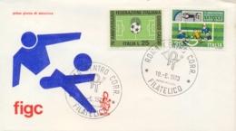 Italia Italy 1973 FDC VENETIA 75° Anniversario Federazione Italiana Giuoco Calcio FIGC Italian Football Federation - Calcio