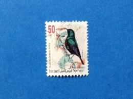 1993 ISRAELE ISRAEL UCCELLO BIRDS OISEAU 50 FRANCOBOLLO USATO STAMP USED - Usati (senza Tab)