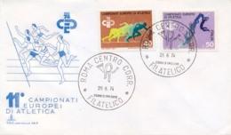 Italia Italy 1974 FDC CAPITOLIUM Campionati Europei Di Atletica European Athletics Championships - Atletica