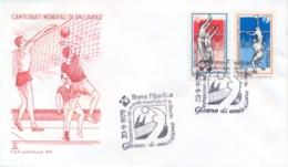 Italia Italy 1978 FDC CAPITOLIUM Campionati Mondiali Maschili Di Pallavolo Men's World Volleyball Championships - Pallavolo