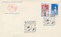 Italia Italy 1978 FDC CAVALLINO Campionati Mondiali Maschili Di Pallavolo Men's World Volleyball Championships - Pallavolo