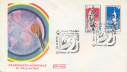 Italia Italy 1978 FDC ROMA Campionati Mondiali Maschili Di Pallavolo Men's World Volleyball Championships - Pallavolo