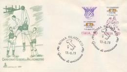 Italia Italy 1979 FDC CAPITOLIUM Campionati Europei Maschili Di Pallacanestro European Men's Basketball Championships - Pallacanestro