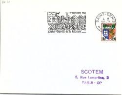 REUNION - LETTRE FLAMME SEMAINE COMERCIALE (avec 1 Seul M) 1-9 OCT 1966 - SAINT DENIS 30.7.1966    /2-R20 - Cartas