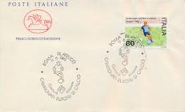 Italia Italy 1980 FDC CAVALLINO Campionati Europei Di Calcio European Football Championships - Europei Di Calcio (UEFA)