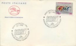 Italia Italy 1986 FDC CAVALLINO Marcialonga Di Fiemme E Fassa Sci Di Fondo Cross-country Skiing - Inverno