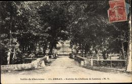 Cp Orsay Essonne, Entree Du Chateau De Launay - France
