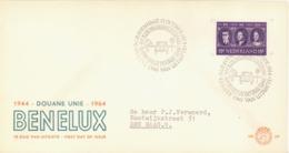 NETHERLANDS. FDC. BENELUX. King Baudouin, Queen Juliana & Duchess Charlotte. 1964 - FDC