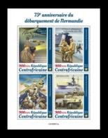 CAR 2019 Mih. 9312/15 World War II. Normandy Landing MNH ** - Centraal-Afrikaanse Republiek