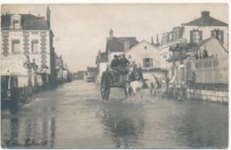 ISSOUDUN - Carte Photo, Rue Inondée - Issoudun