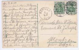 ALLEMAGNE - Cachet Manuel AACHEN Du 9.1. 10 + Cachet MONTZEN ( BELGIQUE ) Du 4 JANV 1910 - Cachets Manuels