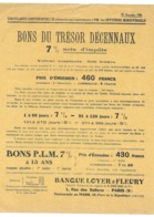 CIRCULAIRE CONFIDENTIELLE NOVEMBRE 1926 OFFCIERS MINISTERIELS BONS DU TRESOR PARIS AFFICHE 27X22 CM - Afiches