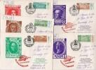 MAIL Post Used Set 5 Covers Stamp USSR RUSSIA Tsar Peter 1st Pavel Ekaterina 2nd Elisaveta Alexander Leningrad Museum - Lettres & Documents