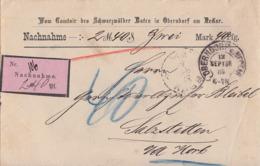 DR NN-Brief Hufeisenstempel Oberndorf A. Neckar 12.9.84 Gel. Nach Salzstetten - Brieven En Documenten