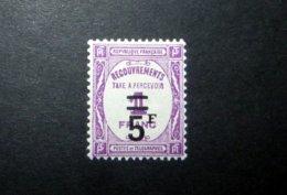 FRANCE TAXE 1931 N°65 * (RECOUVREMENTS. 5F SUR 1F LILAS. LÉGENDE TAXE A PERCEVOIR) - Taxes