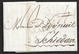 1844 - LAC - Linéaire 61 CALAIS A SCHIEDAM ( PAYS BAS ) - Storia Postale