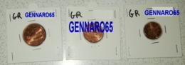 GRECIA TRIS 1-2-5 CENT ANNO 2004 FDC IN OBLO' - Grèce