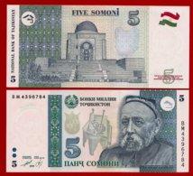 ** TADJIKISTAN - 5 Somoni 1999 UNC ** - Tadzjikistan