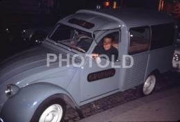1968 CITROEN 2CV AZU GRUNDIG VAN PARIS FRANCE 35mm AMATEUR DIAPOSITIVE SLIDE Not PHOTO No FOTO B4940 - Dias