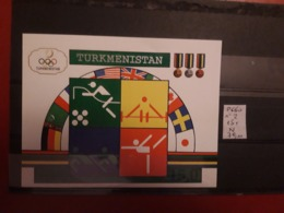 Turkménistan - Feuillet JO 1992 Neuf ; Côte / 8 - Turkménistan
