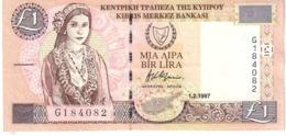 Cyprus P.57 1 Pound 1997 A-unc - Chipre