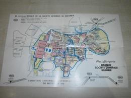 Ancien Plan EXPO DE BRUXELLES 1958 - Programme