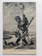 Ak Spot Cp Ravot Le Champagne Et La Goulemier Me G'aisne Soldat Allemand Vin Alcohol - Guerre 1914-18