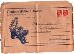 Gandon Préoblitéré 12 F Orange Sur Grand Fragment (découpe Grande Enveloppe) - Graines Clausse - Marcophilie (Lettres)