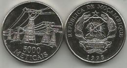 Mozambique 5000 Meticais 1998. - Mozambique
