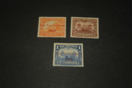 K23830 -set MNH Nicaragua 1938 - SC. 671-673 - Overprinted Value 1938 - Nicaragua