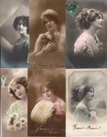 Lot De 20 Cartes Postales CPA Sur Des Portraits De Femmes - Cartes Postales