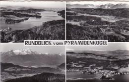 AK Rundblick Vom Pyramidenkogel - Mehrbildkarte - 1959 (45142) - Klagenfurt