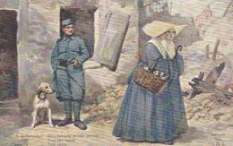 GUERRE 1914 1918 CARTE D ILLUSTRATEUR BLEU HORIZON ET BIEN CELESTE - Guerra 1914-18