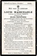 Bekegem, Zerkegem, 1934, Louis Masschaele, Defevere - Devotion Images