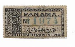 PANAMA COLOMBIA 1888 REGISTRATION STAMP MICHEL 11 SCOTT F1 USED VF - Panamá