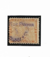 PANAMA 1903 1904 MAP 10 CENTS  MICHEL 36 VII SCOTT 154 USED VF - Panama