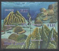 FIJI ,2015,  MNH, MARINE LIFE, CORALS, S/SHEET - Marine Life