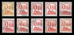 PETITS COLIS  1960 -  YT  31 à 40 - Oblitérés - Cote  51.50e - Spoorwegzegels