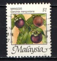 MALESIA - 1986 - Garcinia Mangostana - USATO - Malesia (1964-...)