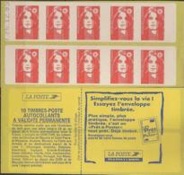 FRANCE CARNET 2874 C7  Avec Date Carnet Composé 10 Timbres Type Marianne De BRIAT Rouge N°2874 - Uso Corrente