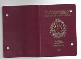 Passeport,passport, Pasaporte, Reisepass,Republic Of Macedonia For BABY And VISA Germany Turky Bulgaria... - Documenti Storici