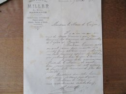 MARMANDE MILLER PEINTURE VITRERIE PAPIERS PEINTS GLACES RUE NATIONALE COURRIER DU 5 MAI 1901 - Frankreich