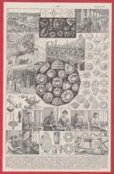 Diamant. Extraction, Exploitation , Taille, Travail De La Taille, Illustration Maurice Dessertenne. Larousse 1931. - Documentos Históricos
