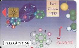 CARTE-PUCE-PRIVEE-PUBLIC- 50U-EN-427-GemA-08/92-JOUVEINAL-Série A-R°Glacé-UTILISE-LUXE-RARE - France