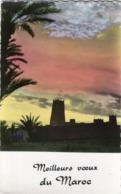 MEILLEURS VOEUX DU MAROC EDITIONS JEFF CASABLANCA CARTE DENTELEE COLOREE DE 6.5 X 10.7 Mm - Casablanca
