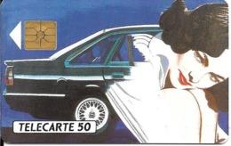 CARTE-PUCE-PRIVEE-PUBLIC- 50U-EN-425-GemA-08/92-OPEL G.M-Série A-R°Glacé-UTILISE-LUXE-RARE - France