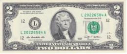 BILLETE DE ESTADOS UNIDOS DE 2 DÓLARES DEL AÑO 2009 SERIE L (BANK NOTE) SIN CIRCULAR-UNCIRCULATED - Billetes De La Reserva Federal (1928-...)