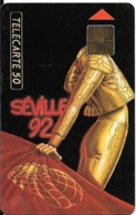 CARTE-PUCE-PRIVEE-PUBLIC- 50U-EN-423-GemA-08/92-CEF 5-SEVILLE 92-Série B-R°Glacé-UTILISE-LUXE-RARE - France
