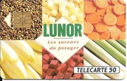 CARTE-PUCE-PRIVEE-PUBLIC- 50U-EN-446-GemA-09/92-LUNOR-Série A-R°Glacé-UTILISE-LUXE-RARE - France